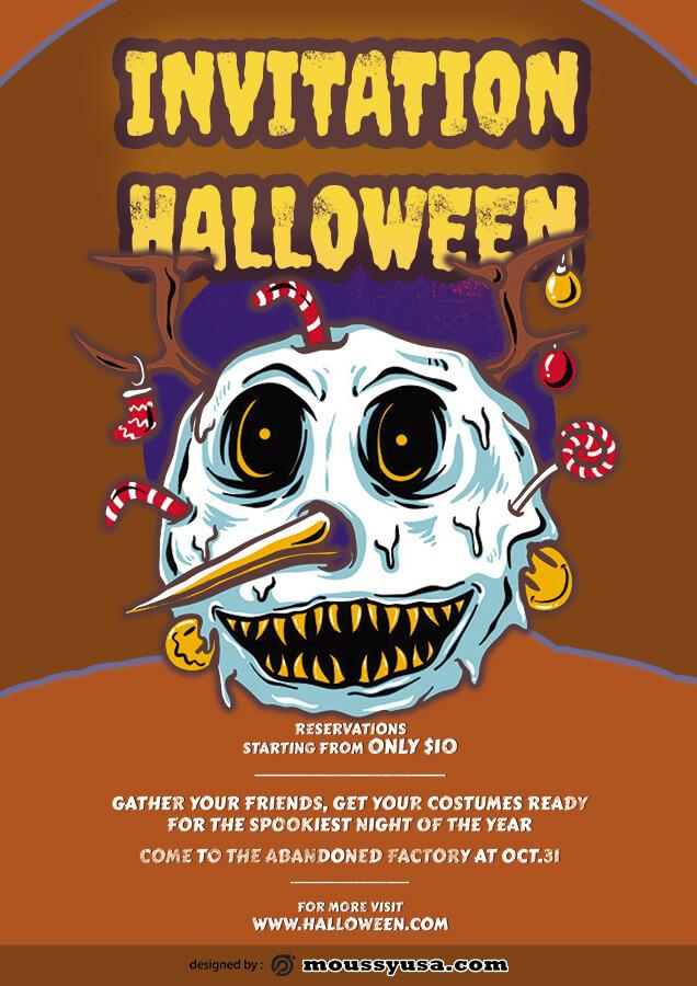 halloween party invitation example psd design