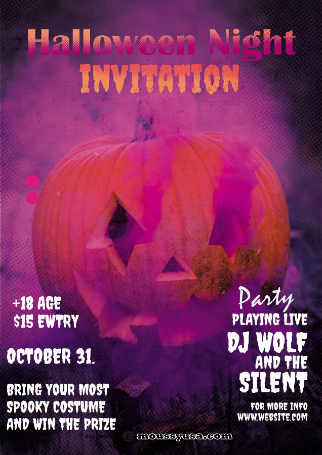 halloween party invitation in photoshop free download