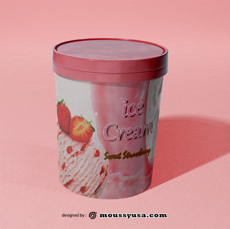 ice cream cones template free download psd