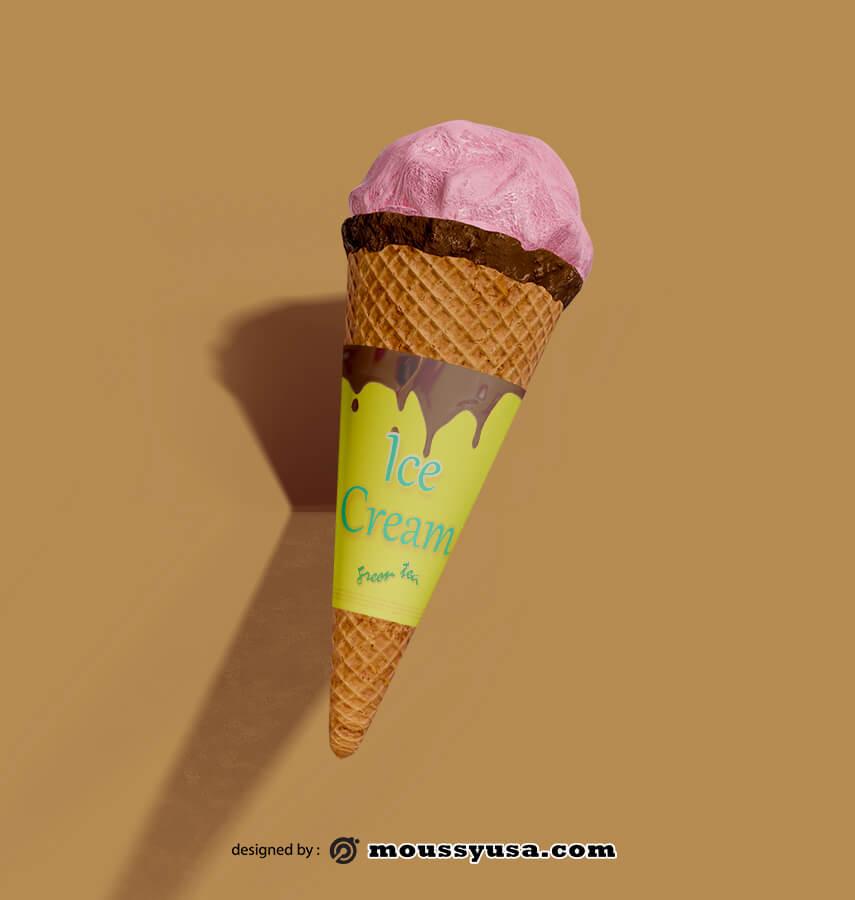 ice cream cones template free psd template