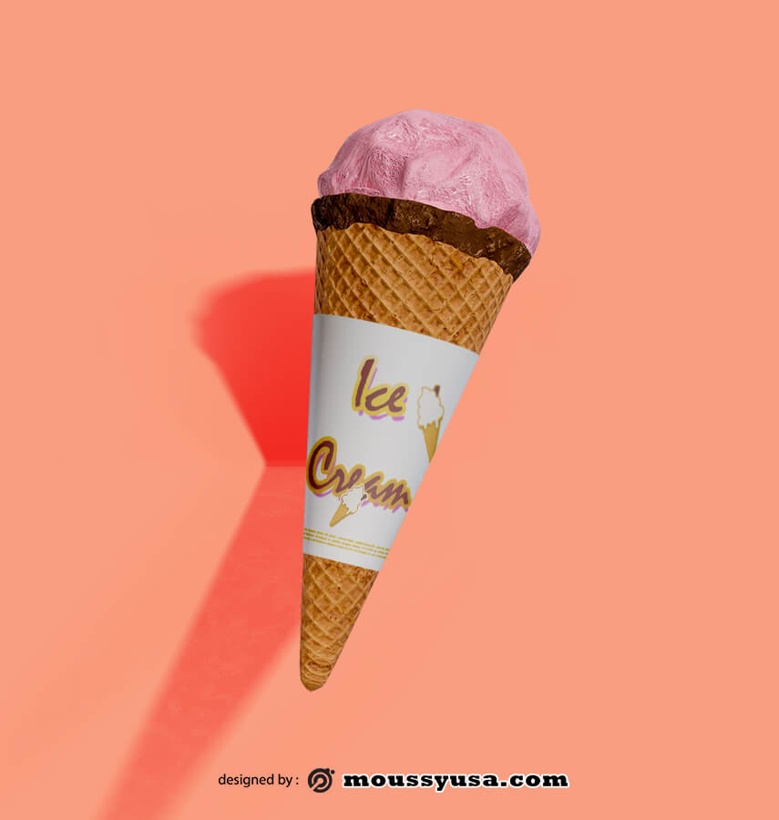 ice cream cones template template for photoshop