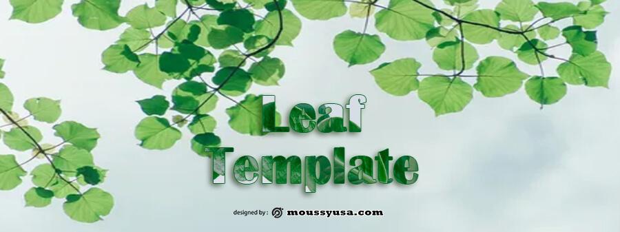 leaf template customizable psd design template
