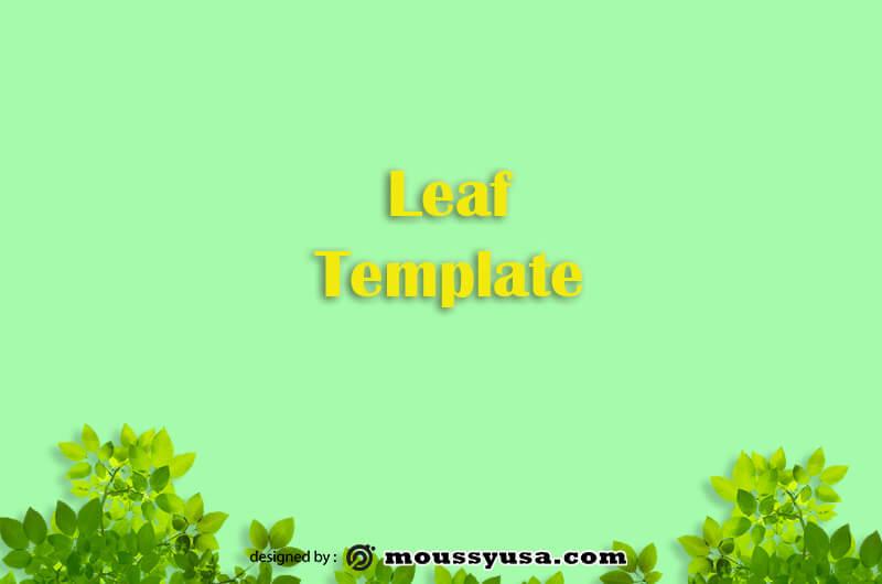 leaf template example psd design