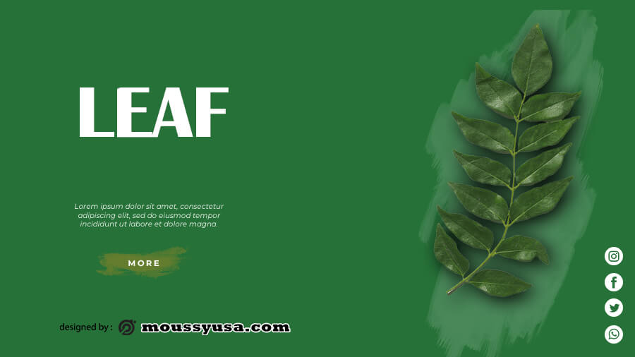 leaf template free download psd