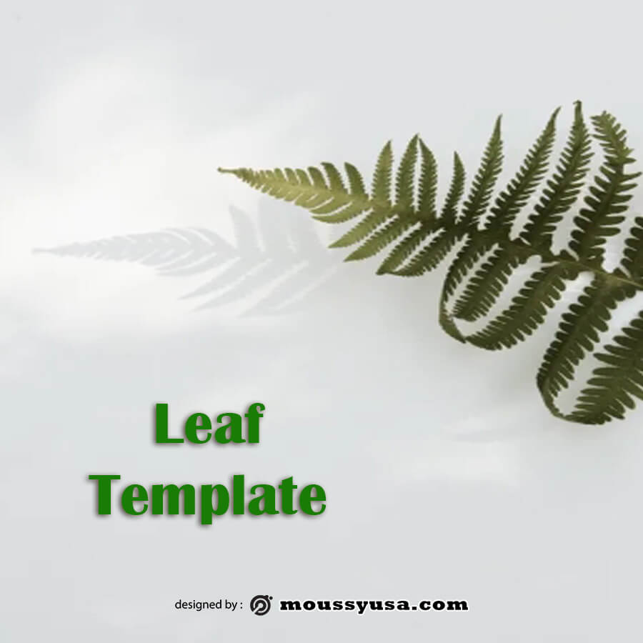 leaf template free psd template
