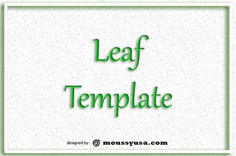 leaf template in photoshop
