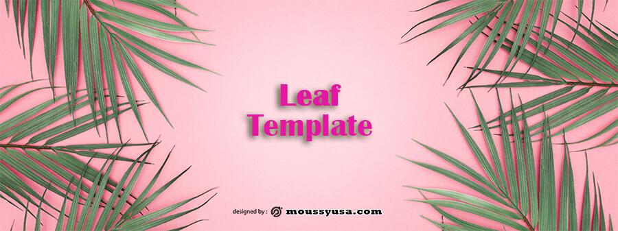 leaf template psd template free