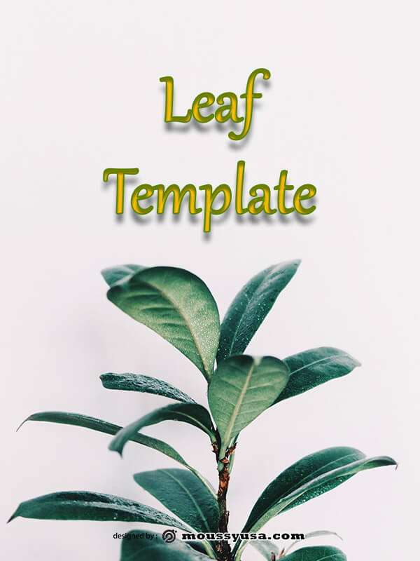 leaf template template for photoshop