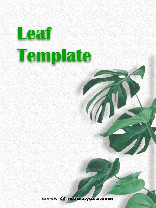leaf template template free psd