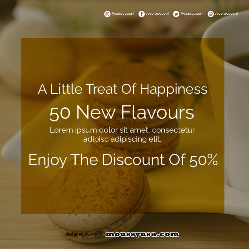 macaron template free download psd
