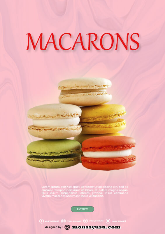macaron template in photoshop free download