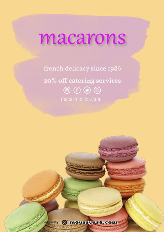 macaron template in photoshop