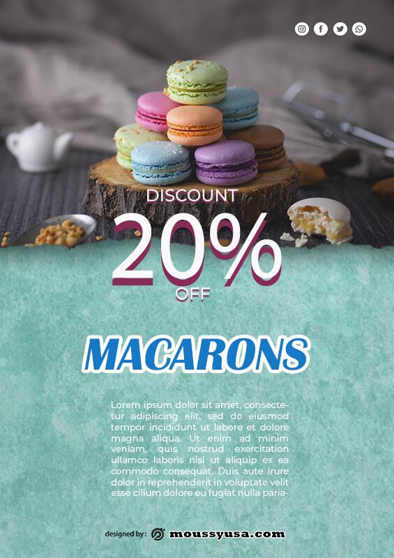 macaron template in psd design