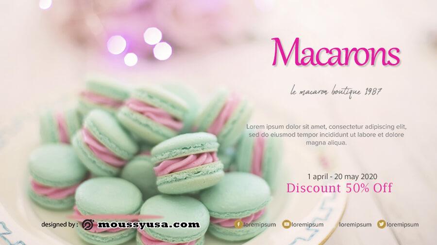 macaron template psd template free