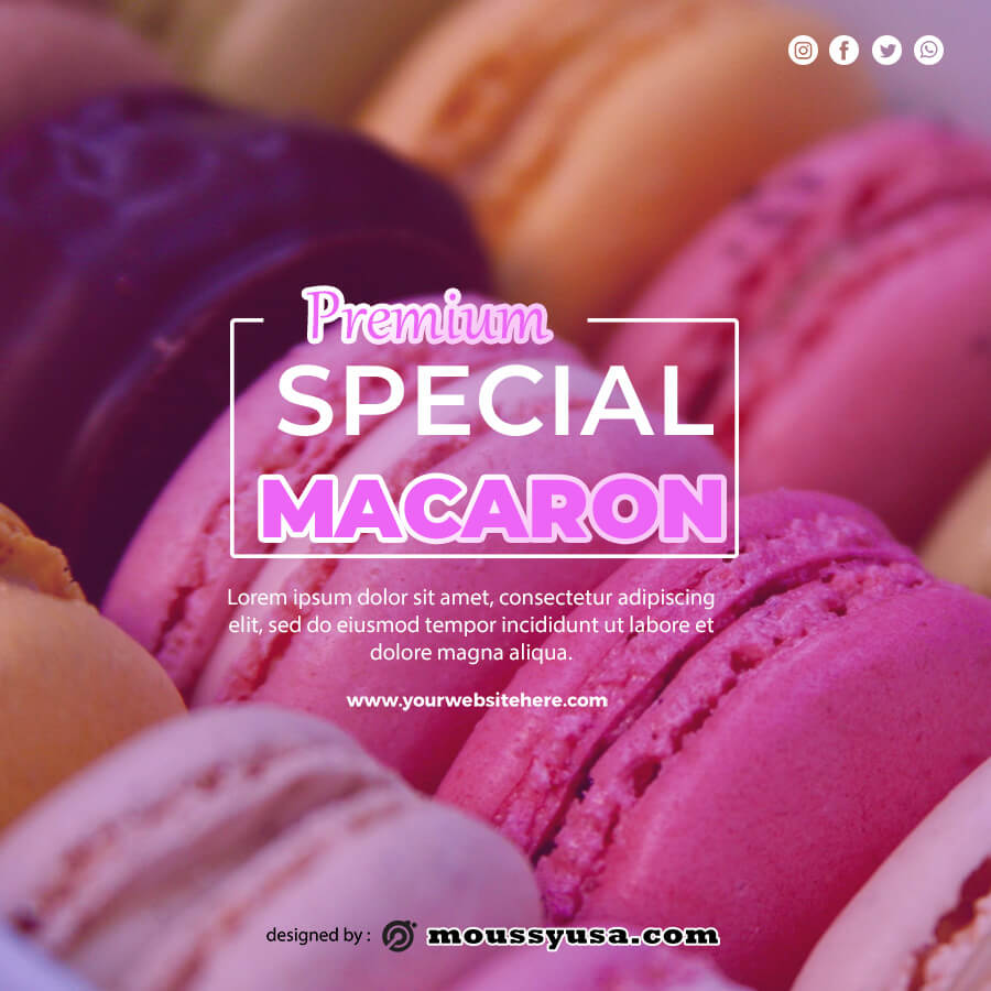 macaron template template for photoshop