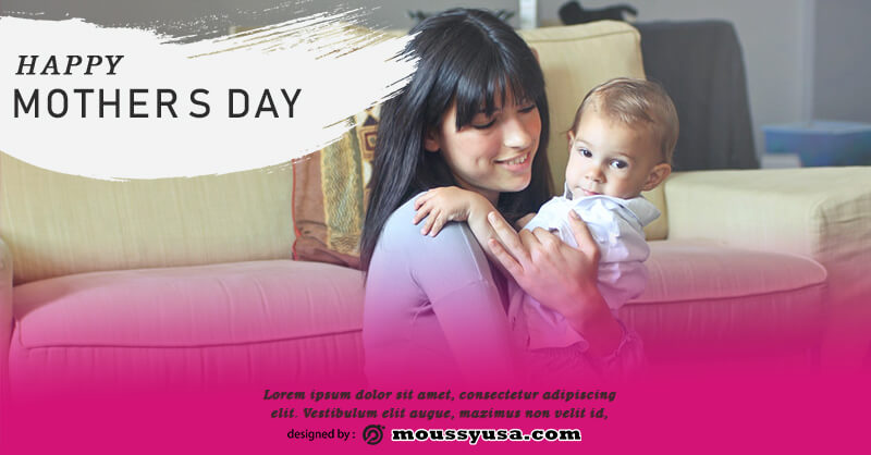 mothers day card free psd template