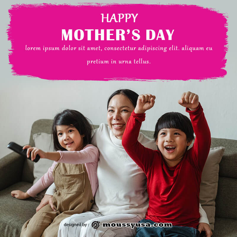 mothers day card in psd design