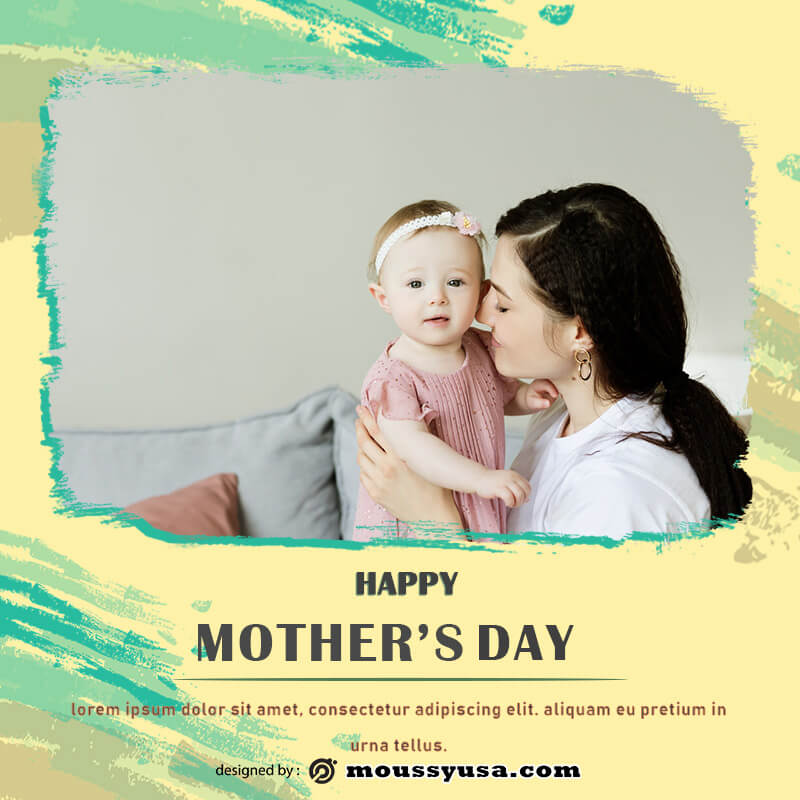 mothers day card psd template free