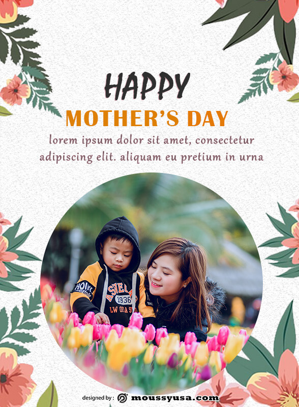 mothers day card template for photoshop