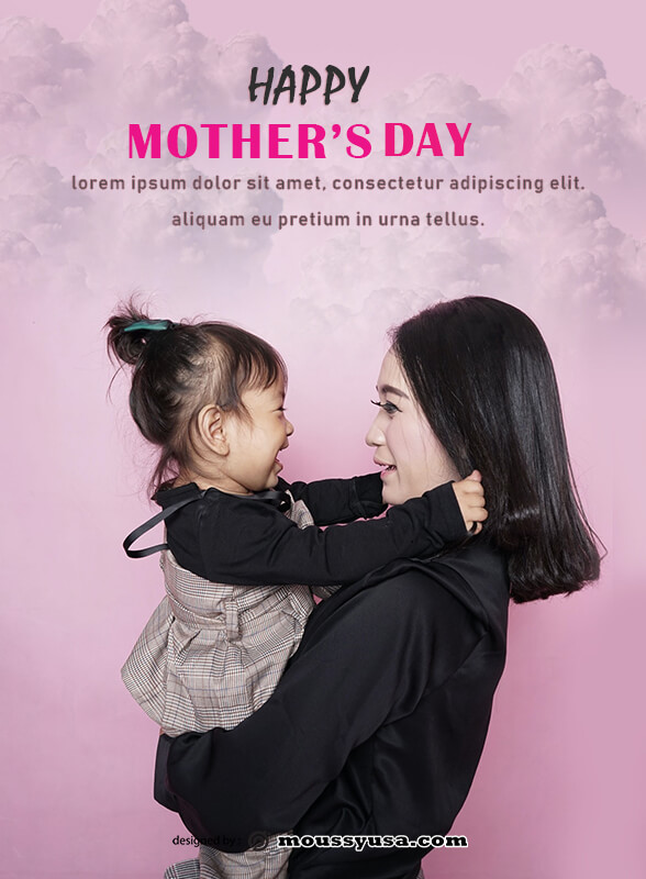 mothers day card template free psd