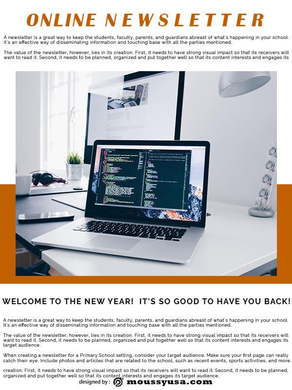 online newsletter customizable psd design template