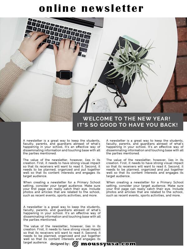 online newsletter example psd design