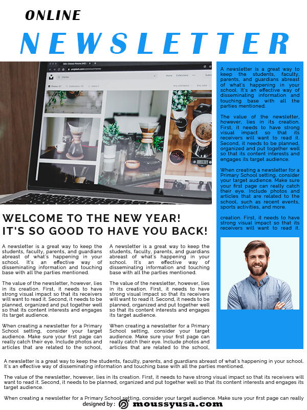 online newsletter free download psd