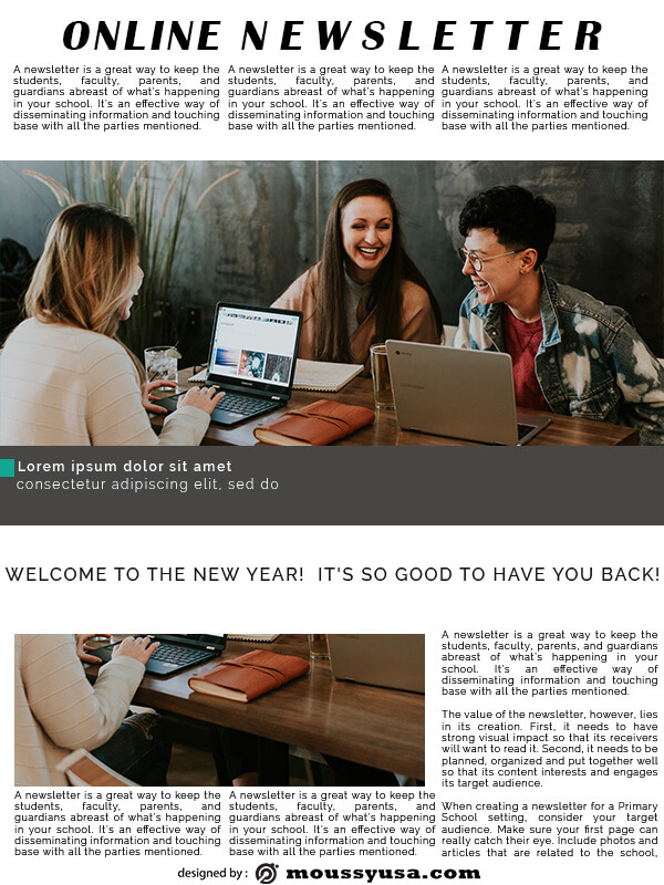 online newsletter in photoshop free download