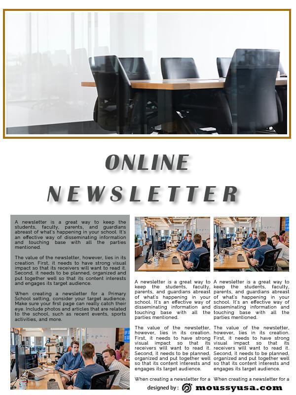 online newsletter in photoshop