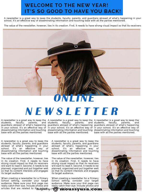 online newsletter in psd design