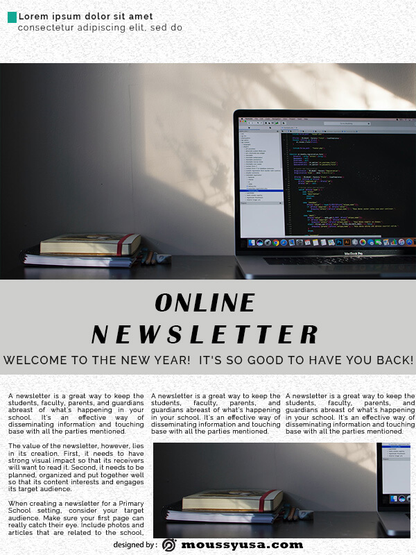 online newsletter template for photoshop