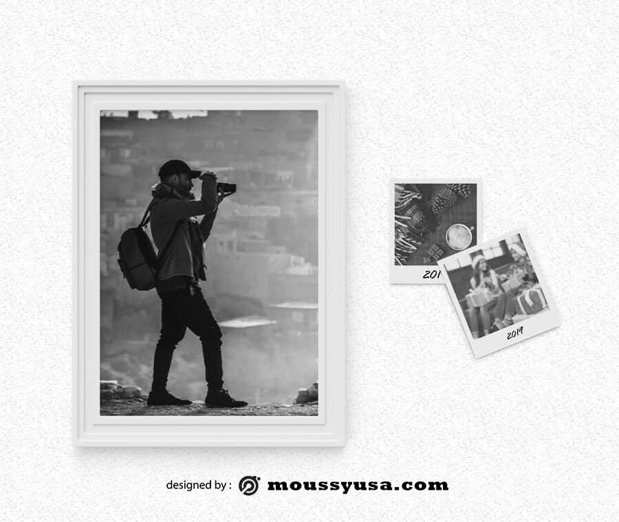 picture frame example psd design