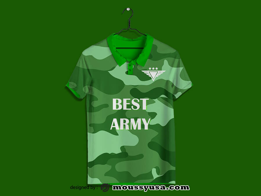 polo shirt customizable psd design template