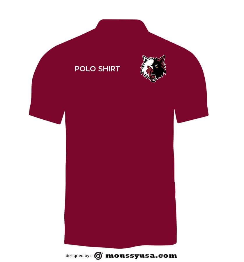 polo shirt example psd design