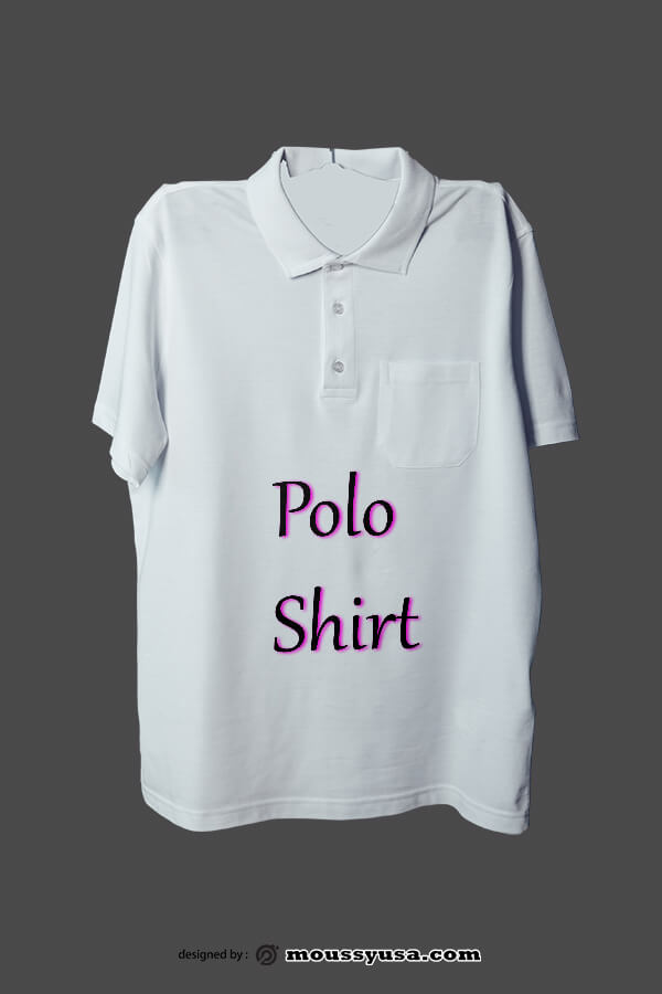 polo shirt free psd template