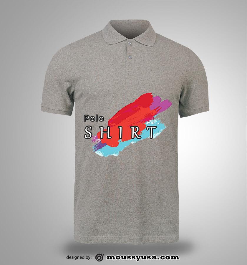 polo shirt template free psd