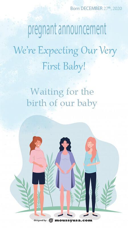 pregnant announcement in psd design