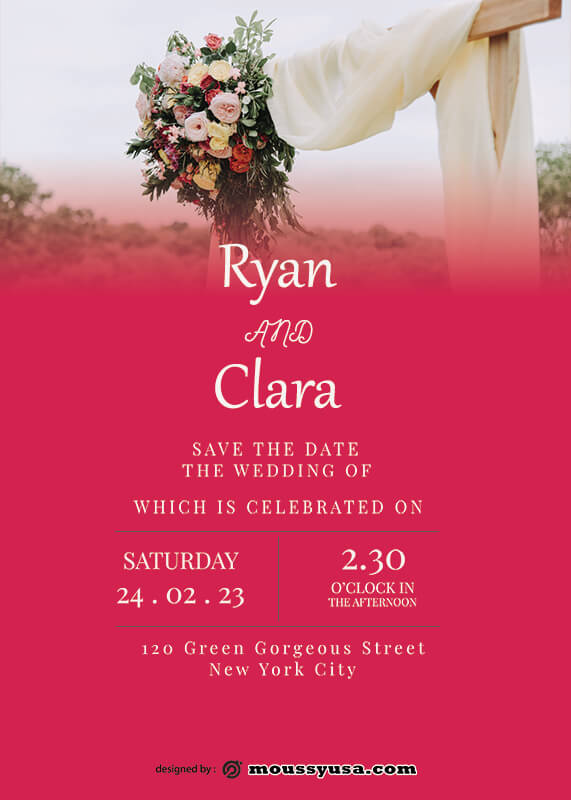 rustic wedding invites in photoshop