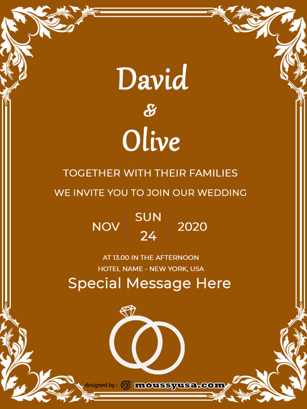 rustic wedding invites in psd design