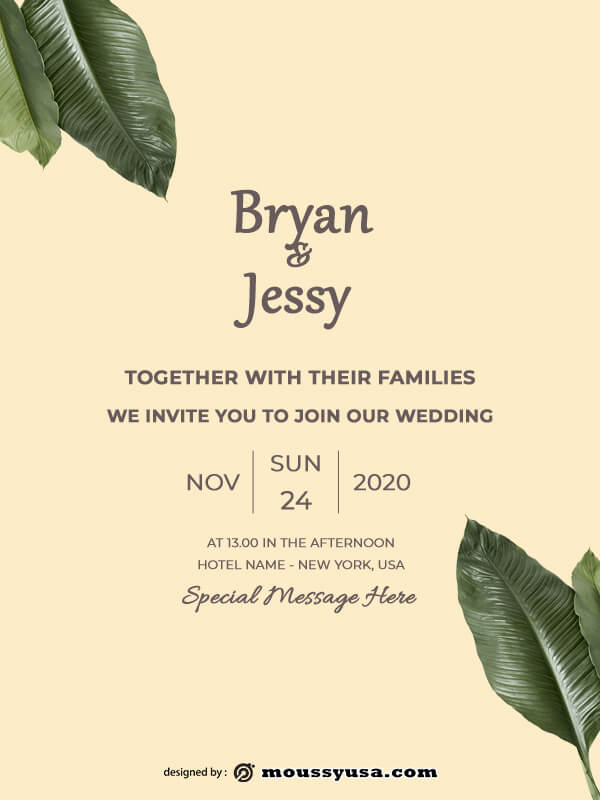 rustic wedding invites template for photoshop