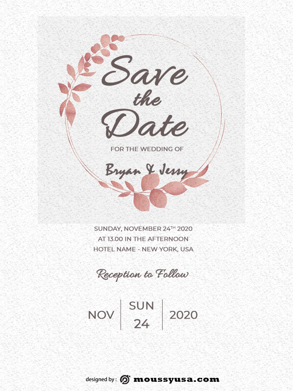 rustic wedding invites template free psd