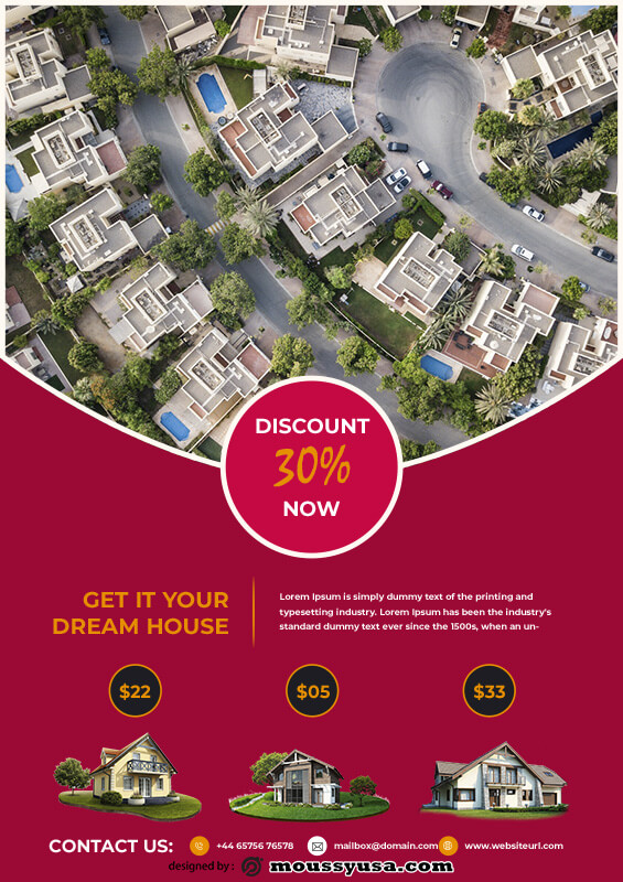 sales flyers template example psd design