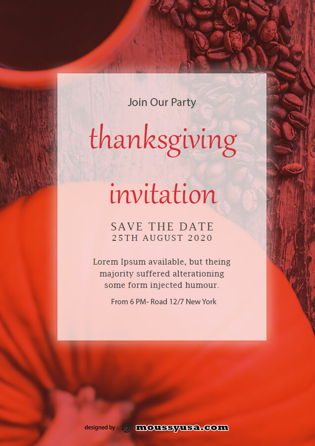 thanksgiving invitation in photoshop