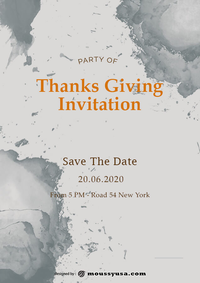 thanksgiving invitation template free psd
