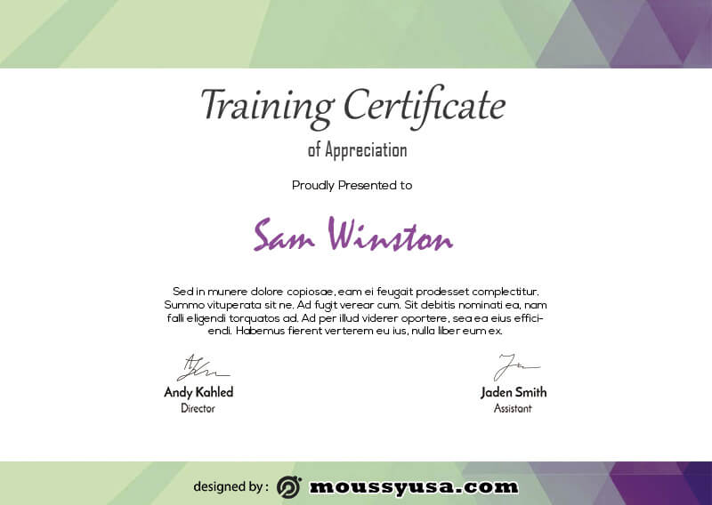 training certificate in photoshop