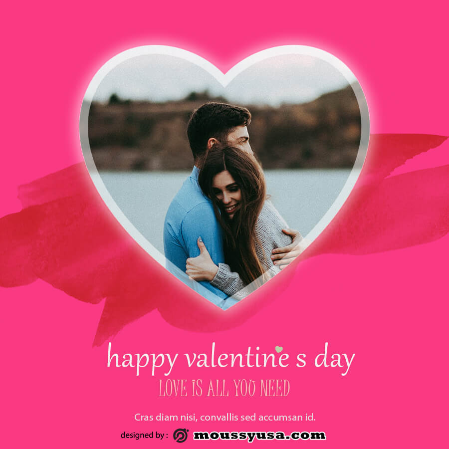 valentine card free download psd