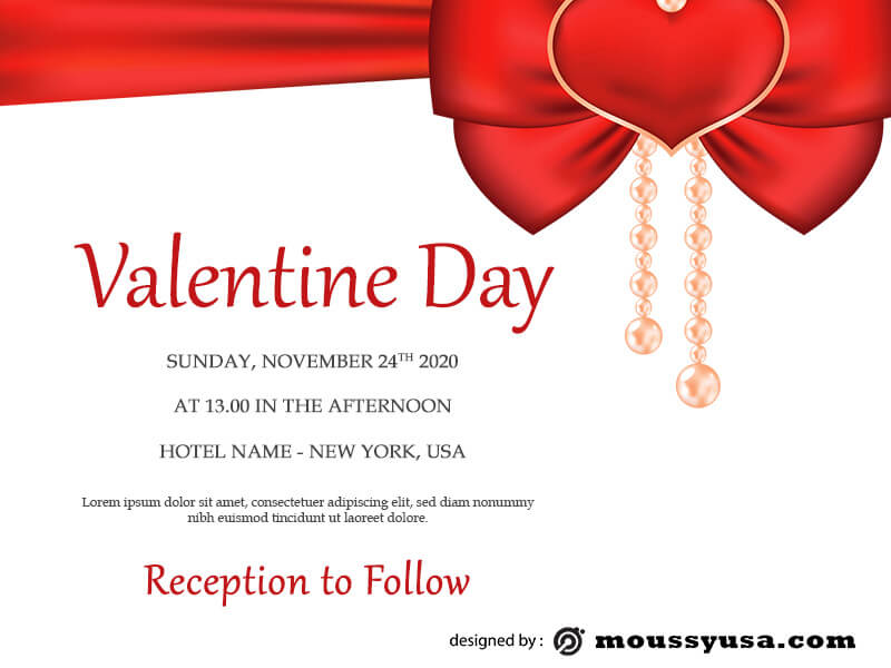 valentine card in photoshop