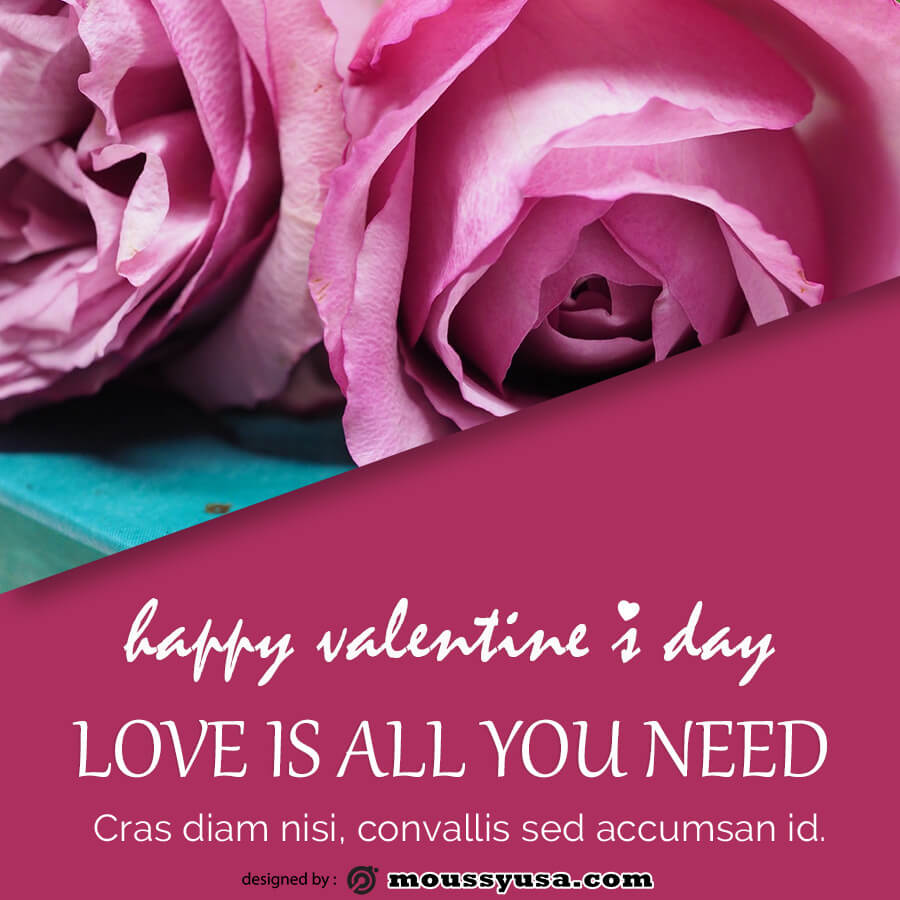 valentine card in psd design