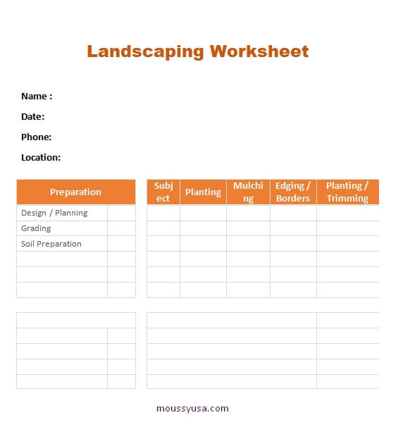 work sheet in word free download